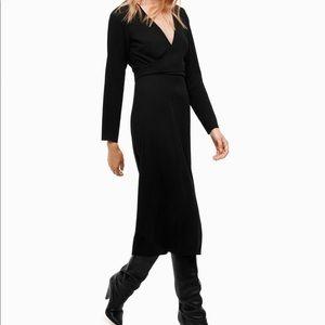 NWT Wilfred Aritzia Black Aubagne Dress